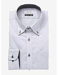 [アオキ] 形態安定スリムシャツ 長袖/立体縫製/選べるバリエーション【ボタンダウン/ワイドカラー】 メンズ