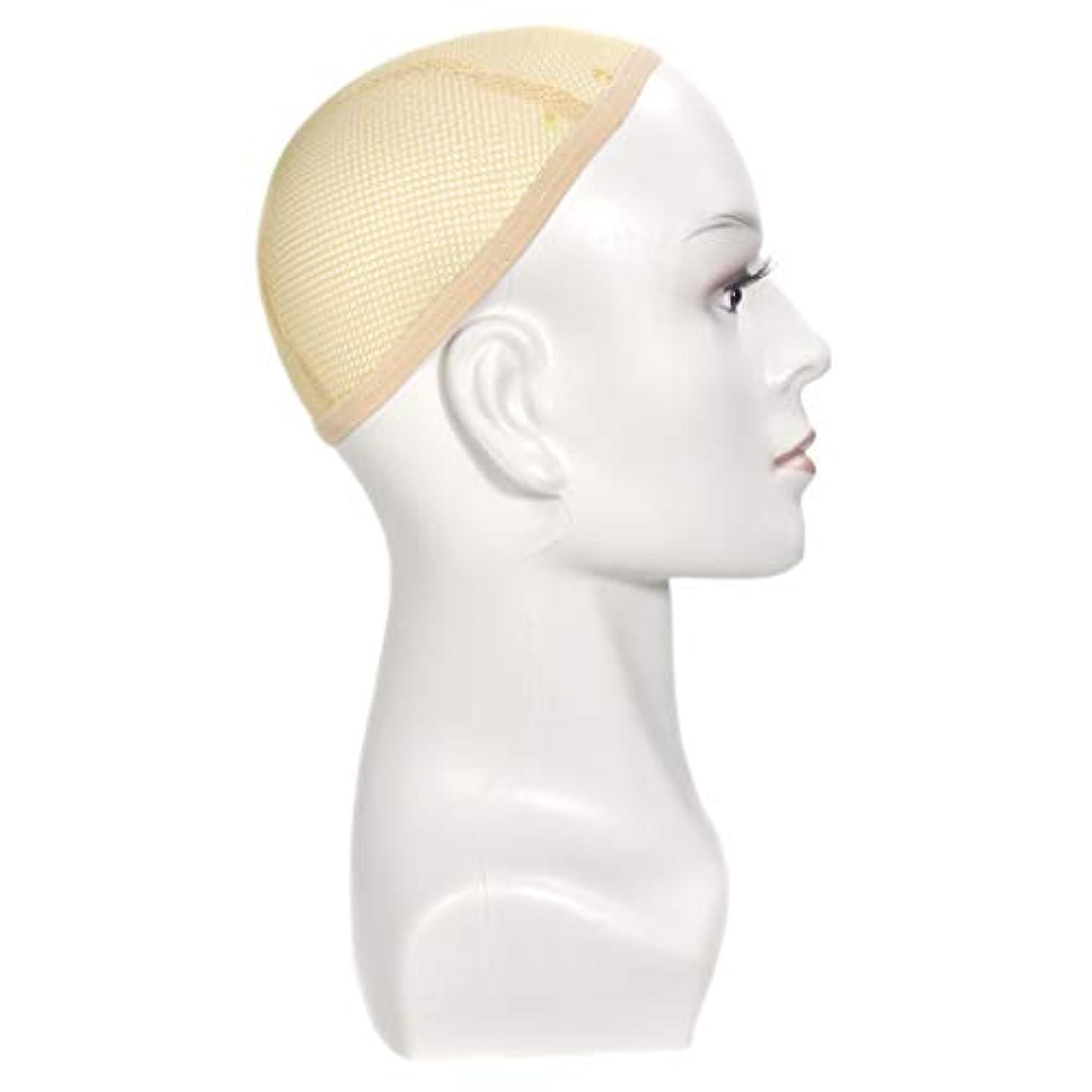 考古学的な折り目関係するマネキンヘッド 肌色 メイク メイクトレーニング 頭部モデル ディスプレイ ホルダー 全2色 - 白