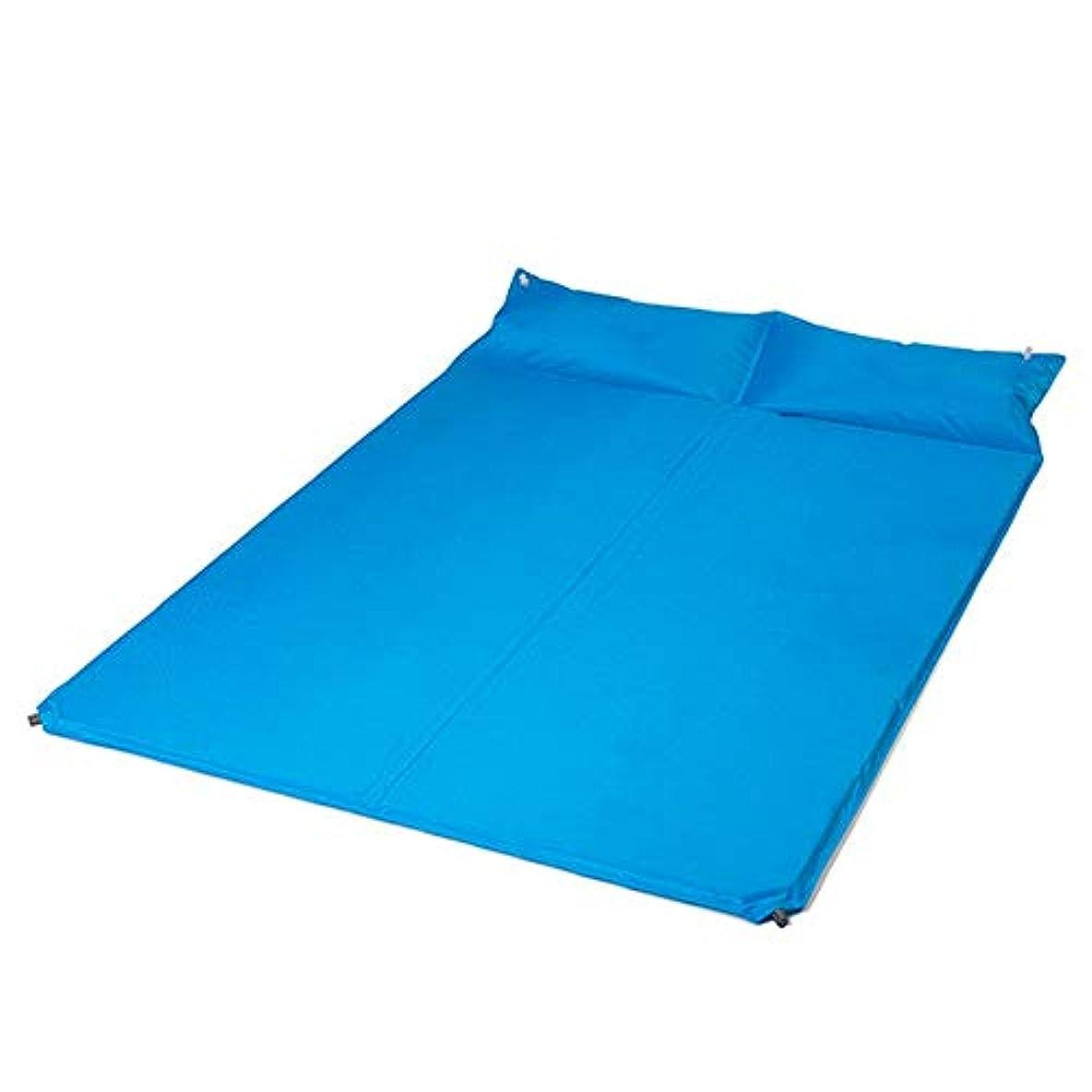 購入カウンターパート慎重にインフレータブルベッド自動インフレータブル枕屋外防湿インフレータブルクッション厚マットレスキャンプエアベッド(カラー:A)