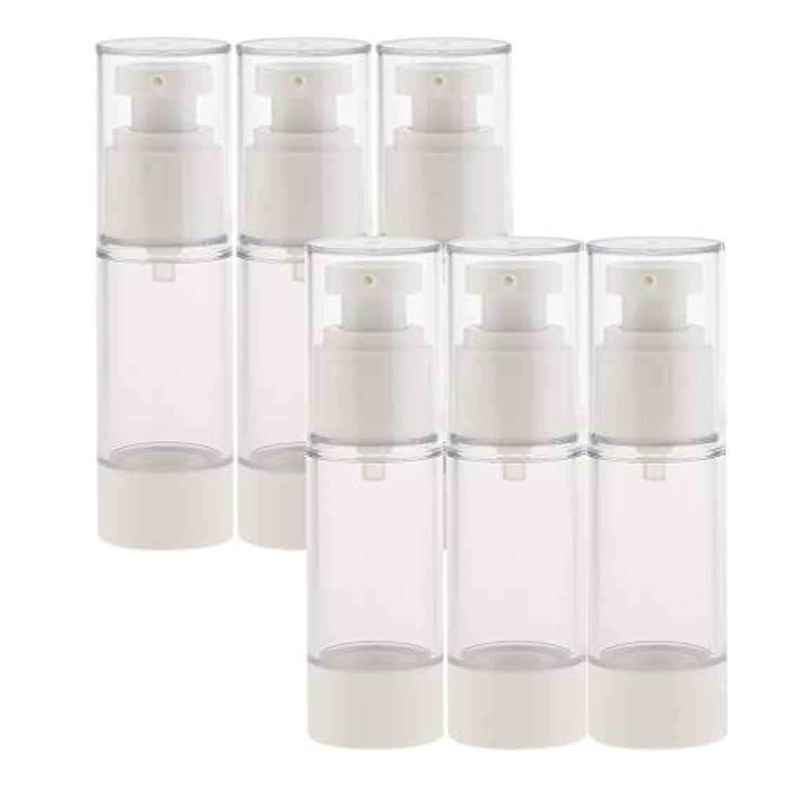 褐色間違いリレーB Baosity 6個 真空スプレーボトル 香水ボトル ポンプボトル コスメ 化粧品 小分け用 詰替え ボトル 2サイズ選べ - 30ミリリットル