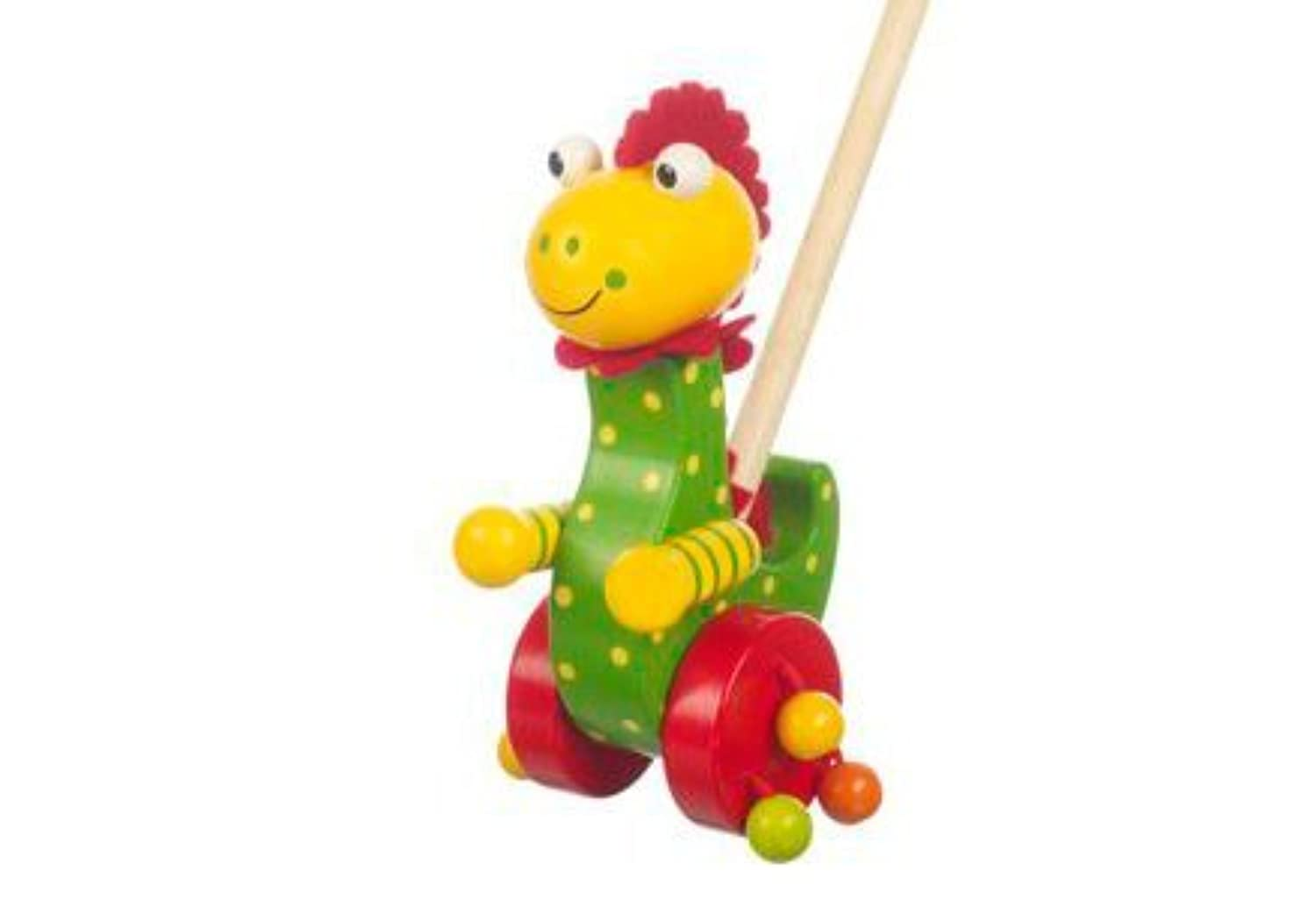 Orange Tree Childrens Wooden Push Along Toy Dino by Orange Tree Toys