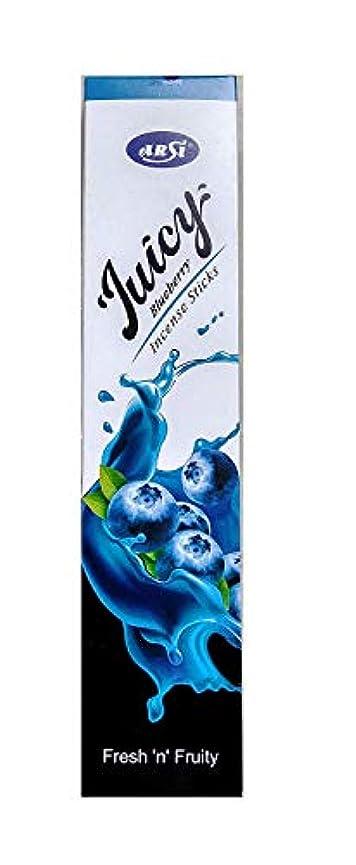 爆発するシュリンクアンビエントARSI Juicy Incense Sticks Agarbatti (Blueberry Flavor, Pack of 12)