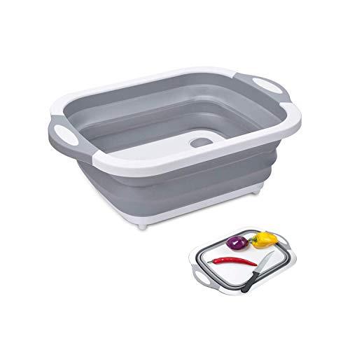 洗い桶 水切り かご 折りたたみ バケツ 排水栓付き まな板可 大容量 収納便利 持ちやすい キッチン 人気 デザイン 水切りラック 掃除 洗濯 キッチン アウトドア最適 洗い かご