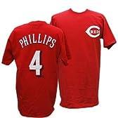 (マジェスティック)Majestic MLB レッズ #4 ブランドン・フィリップス Player Tシャツ (レッド) - M [ウェア&シューズ]