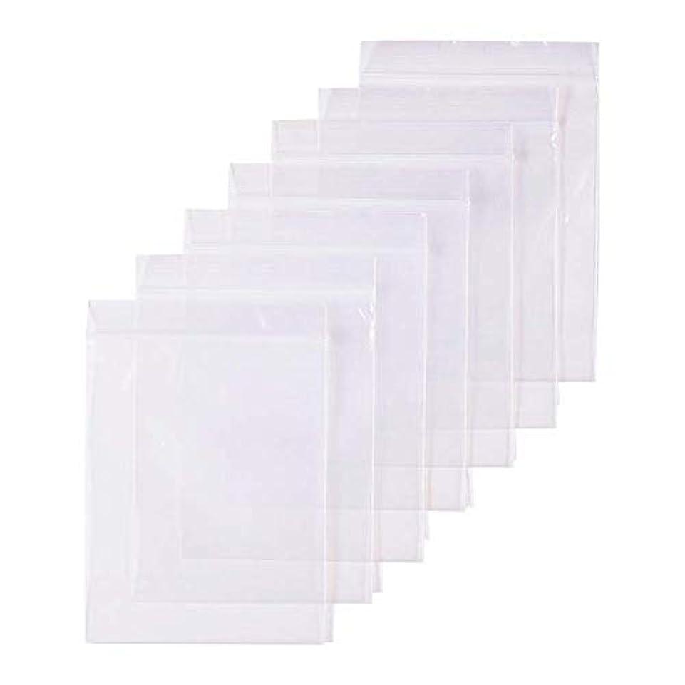 パット溝プロット300枚 セット透明 リサイクル可能プラスチック袋チャック付ポリ袋 密封保存袋