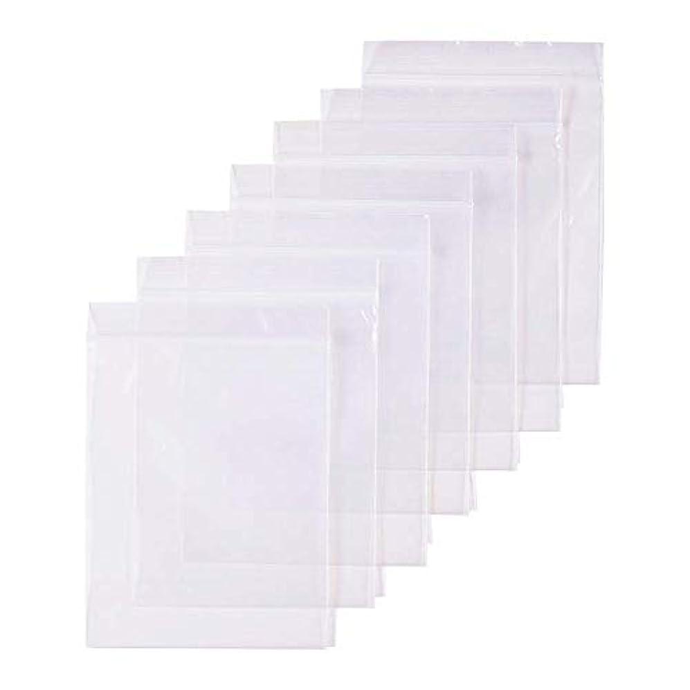 本部スチュワード万一に備えて300枚 セット透明 リサイクル可能プラスチック袋チャック付ポリ袋 密封保存袋
