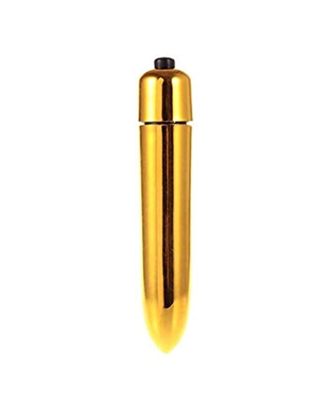 ほこりどれ品揃え弾丸バイブレーターポータブル防水10周波数ミニ電気マッサージャー(ゴールド)