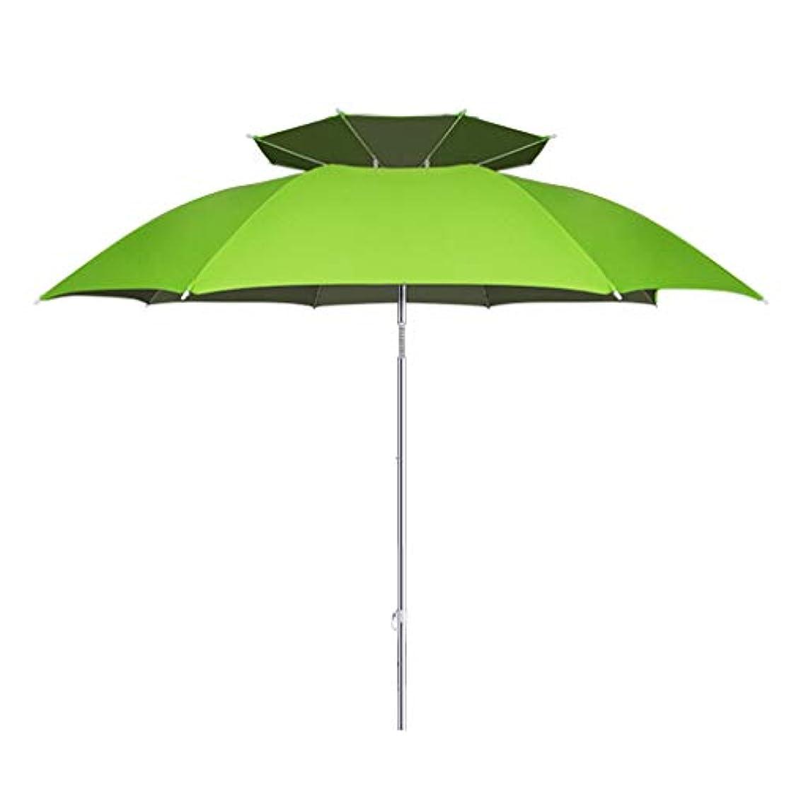 農業の歴史的脅威日傘アルミ合金シルバーガム布日焼け止め雨折りたたみ傘屋外サンシェード傘 (Size : H2.1m)