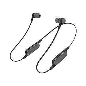 エレコム イヤホン Bluetooth bund(ビアンド) 1ボタンで簡単操作 連続音楽再生6時間 スモークブラック LBT-HPC14AVBK