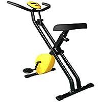 wooztoo フィットネスバイク 折りたたみ マグネット式 静音 エクササイズバイク ダイエット スピンバイク 健康 トレーニング 室内 家庭用 イエロー