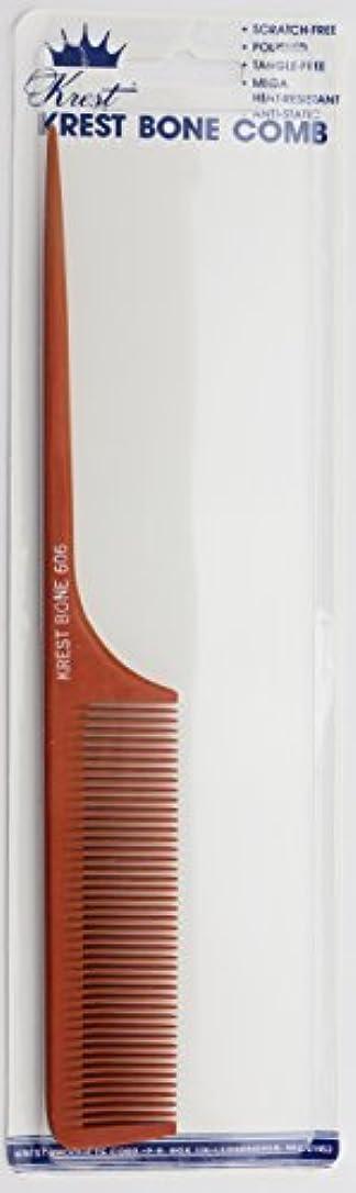 鉱石会議エッセイKrest Bone 9 Inch Fine Teeth Rattail comb. Professional comb. Heat Resistant Comb. Styling Combs. Detangle, Sectioning...