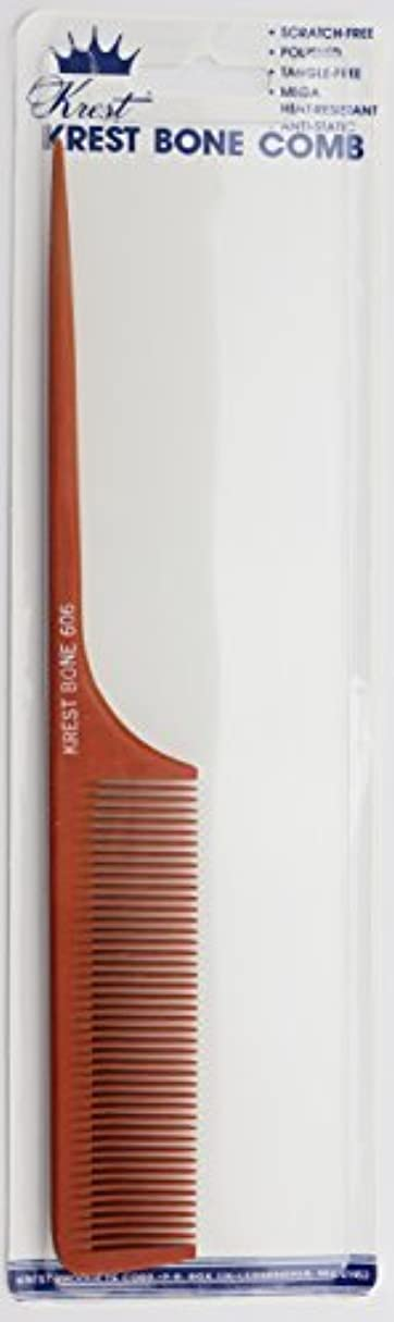 フリル極小ホイットニーKrest Bone 9 Inch Fine Teeth Rattail comb. Professional comb. Heat Resistant Comb. Styling Combs. Detangle, Sectioning...