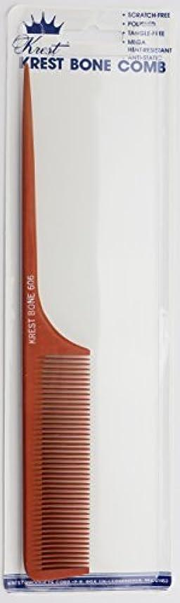 交換可能下に向けます悪因子Krest Bone 9 Inch Fine Teeth Rattail comb. Professional comb. Heat Resistant Comb. Styling Combs. Detangle, Sectioning...