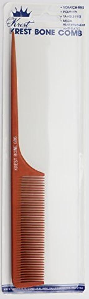 太鼓腹大胆なのぞき見Krest Bone 9 Inch Fine Teeth Rattail comb. Professional comb. Heat Resistant Comb. Styling Combs. Detangle, Sectioning...