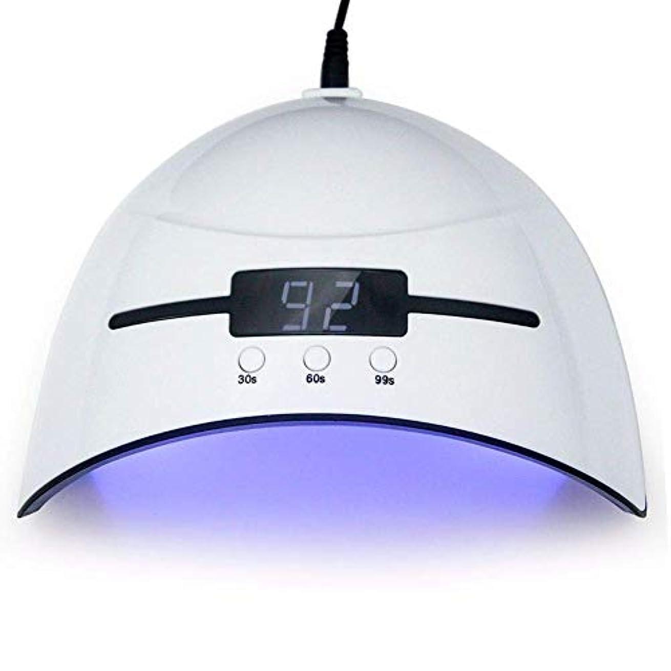半円コンパス残忍なネイルドライヤー36WネイルドライヤーLED UVランプマイクロUSBネイルランプ用硬化LEDジェルビルダー3タイミングモード自動センサー付きネイルドライヤー、写真の色