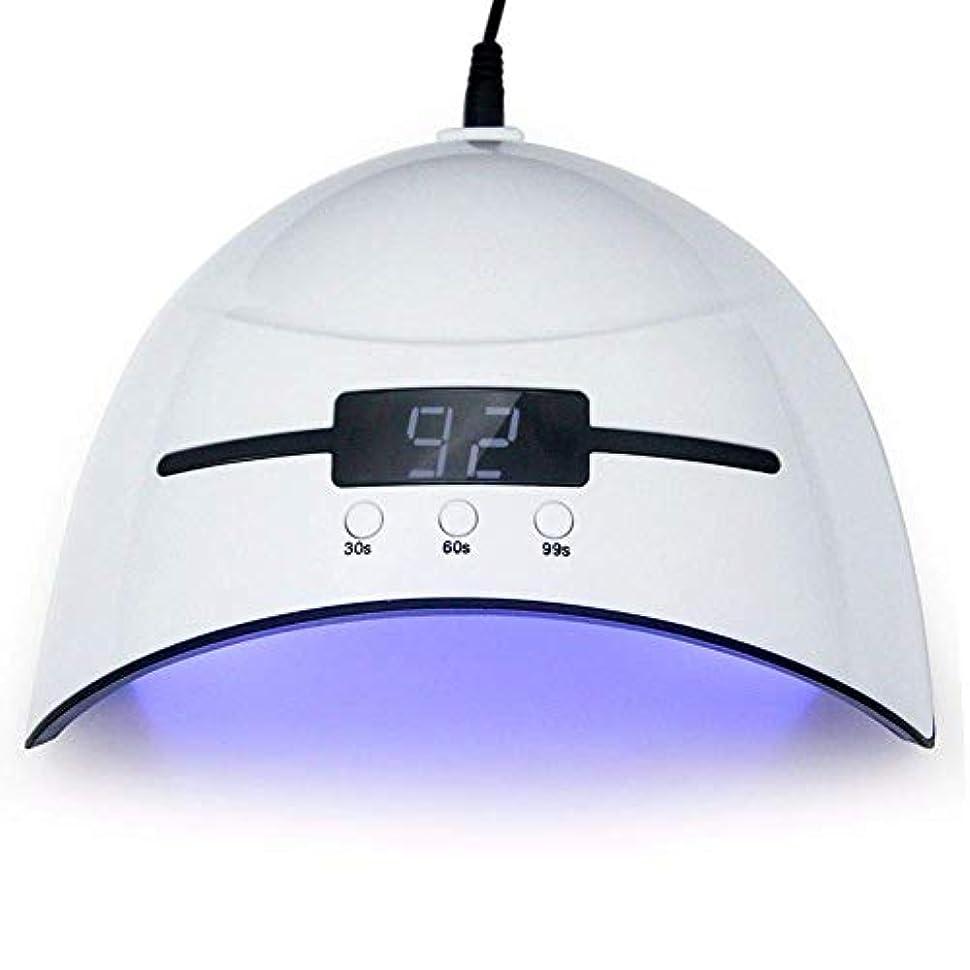 センチメンタル提案不確実ネイルドライヤー36WネイルドライヤーLED UVランプマイクロUSBネイルランプ用硬化LEDジェルビルダー3タイミングモード自動センサー付きネイルドライヤー、写真の色