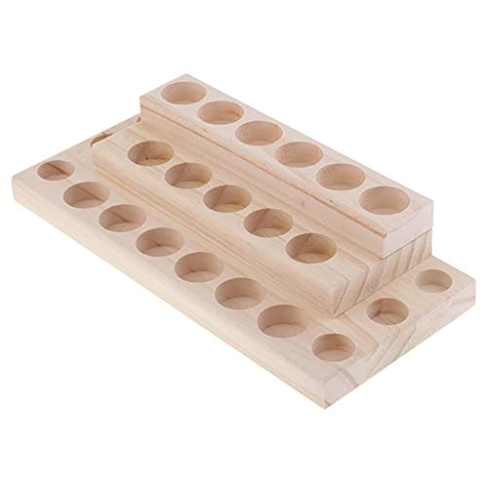 退屈な退屈なアームストロングD DOLITY 木製 エッセンシャルオイル 展示ラック 精油 オルガナイザー 陳列台 収納ツール 3層