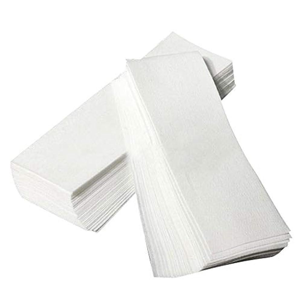 離れた楽しい感染する使い捨て 脱毛紙 100シート/パック 不織布 美容ツール 脱毛器 女性たち スムーズな脚のワックスがけ