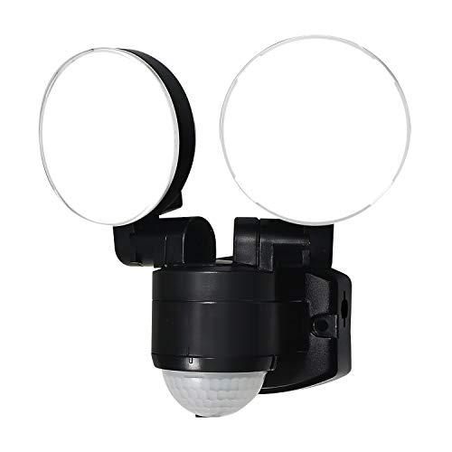 エルパ LEDセンサーライト コンセント式 2灯 ESL-SS41...