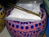 ミニ火鉢、灰皿、物入れ、火箸。そこ砂付。13x10cm、インテリアーー4