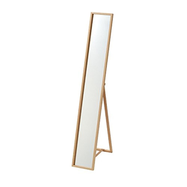 [ベルメゾン] スタンドミラー スリム 折りたたみ 姿見 全身鏡 幅22×高さ144cm ナチュラル