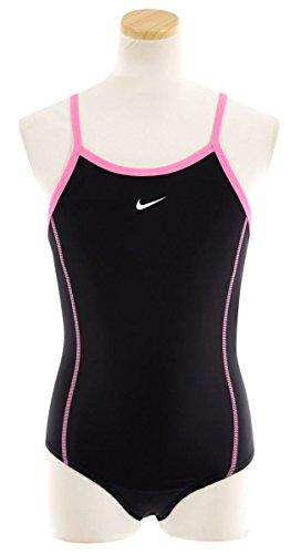 (ナイキ)NIKE女の子ワンピーススクール水着【1981501】130cmブラック×ピンク