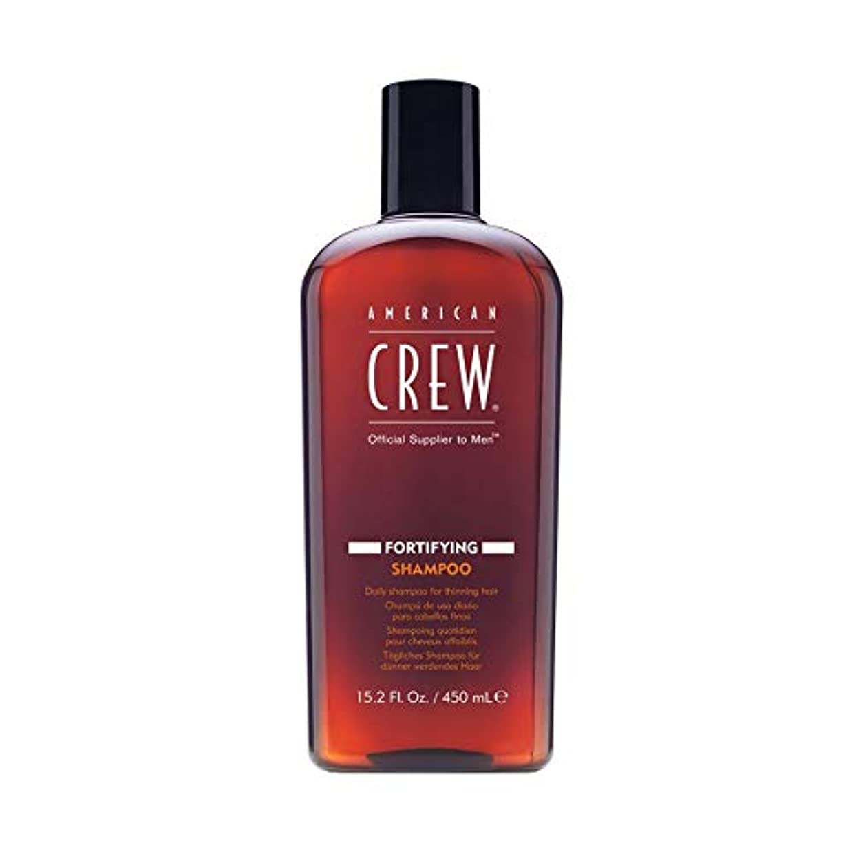 ウェーハ凝視剛性アメリカンクルー Men Fortifying Shampoo (Daily Shampoo For Thinning Hair) 450ml/15.2oz並行輸入品