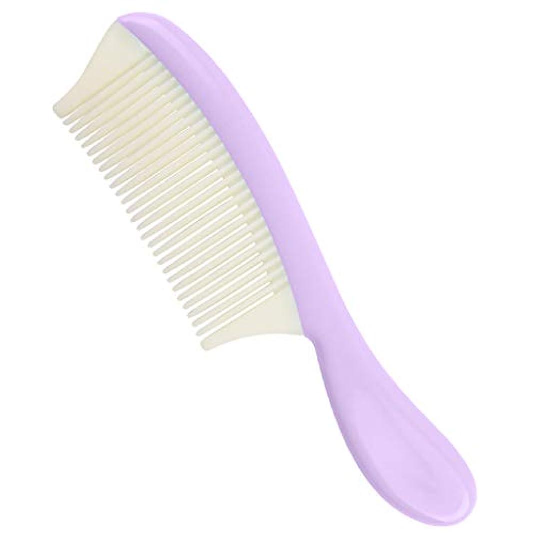 標準ブロック栄養プラスチック ヘアコーム 取り外し可能 細かい歯 髪の櫛 全4色 - 紫