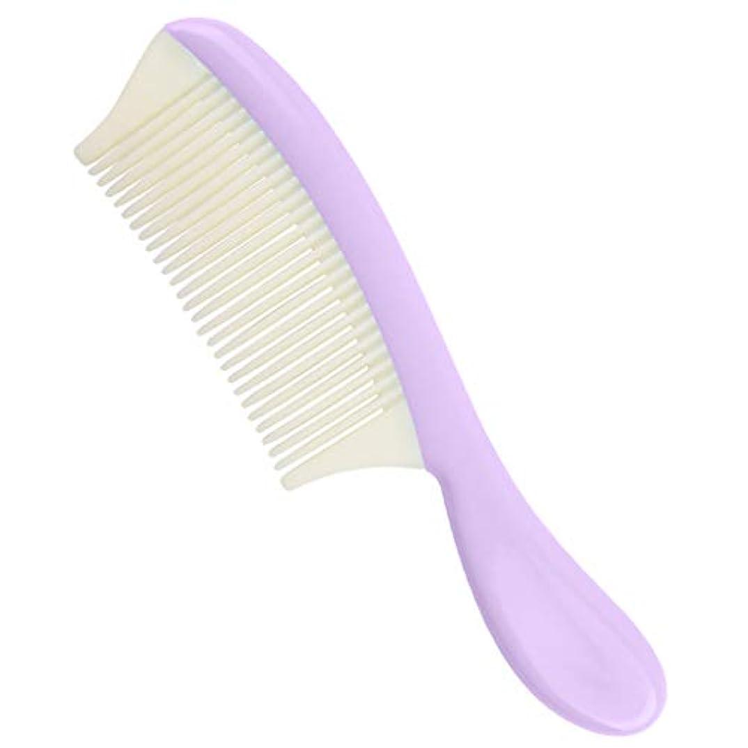 珍しいフラッシュのように素早く失敗P Prettyia プラスチック ヘアコーム 取り外し可能 細かい歯 髪の櫛 全4色 - 紫