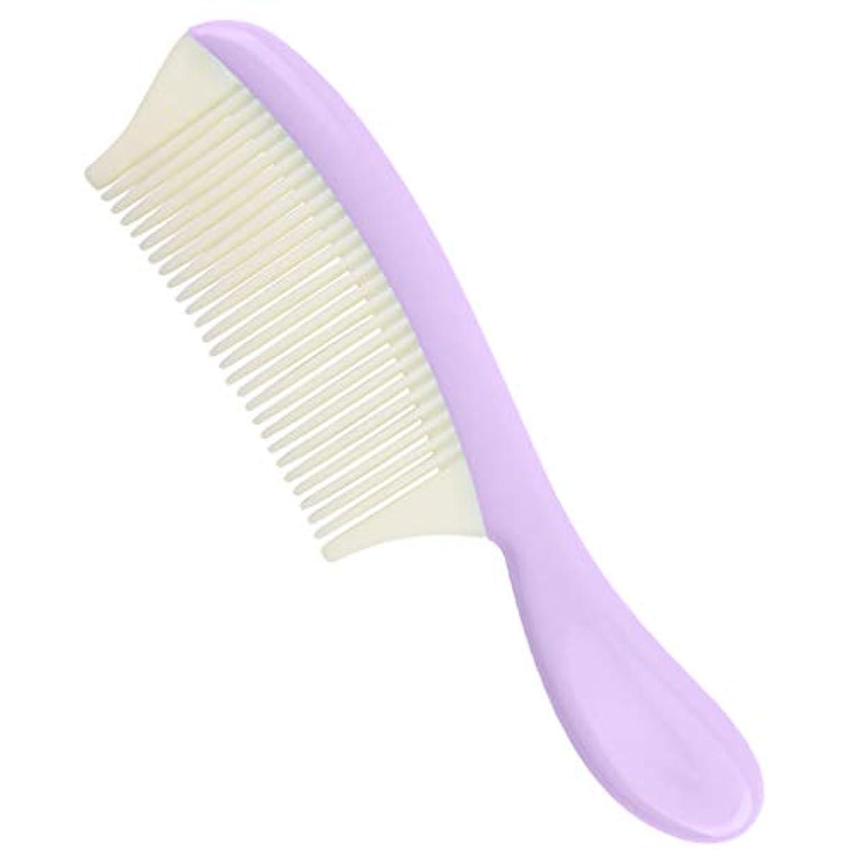 咲くキウイ適応プラスチック ヘアコーム 取り外し可能 細かい歯 髪の櫛 全4色 - 紫