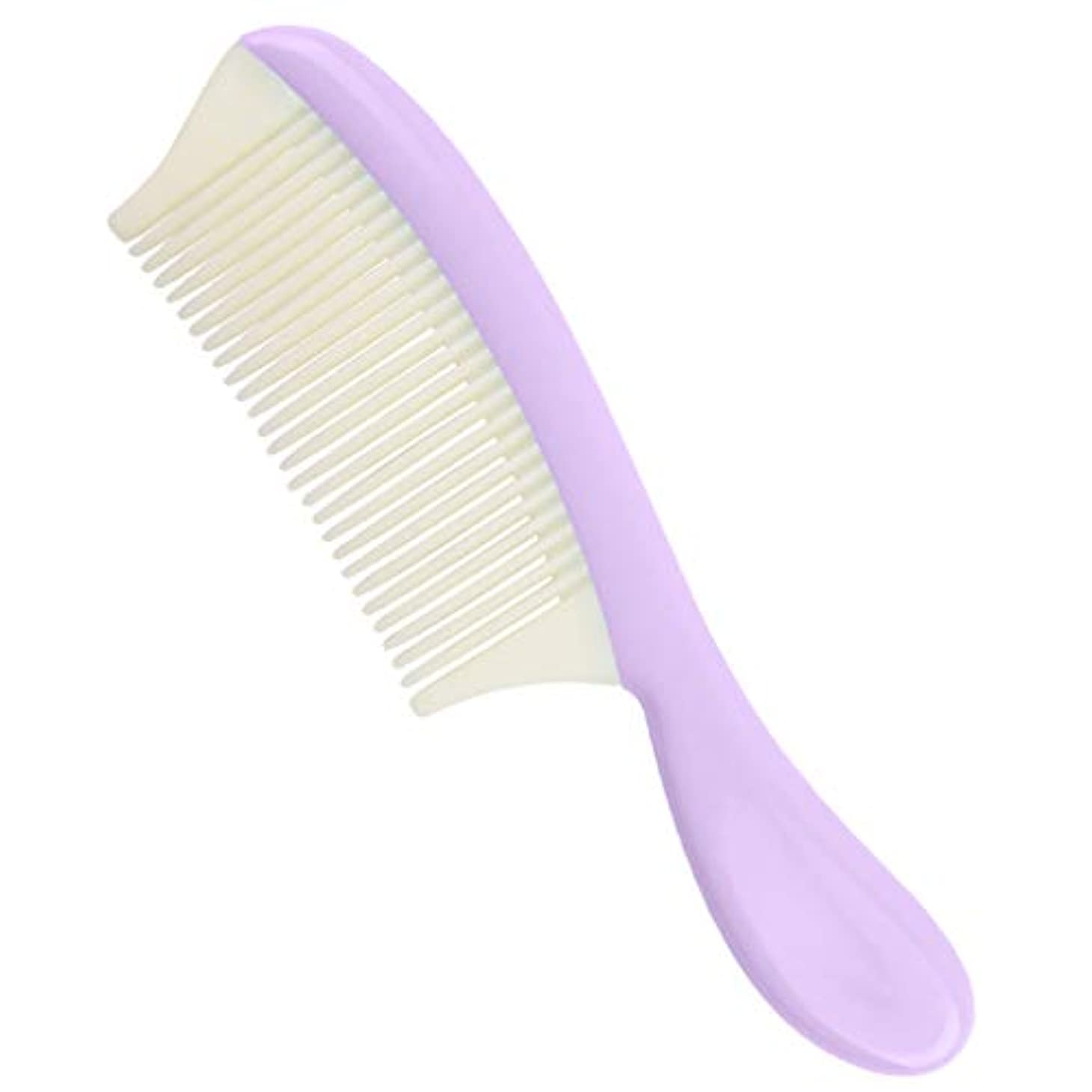 生き返らせる失う和らげるプラスチック ヘアコーム 取り外し可能 細かい歯 髪の櫛 全4色 - 紫