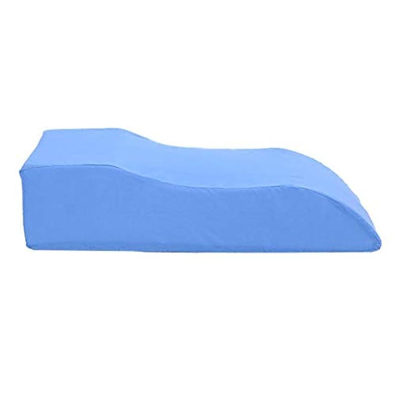 最も早い脊椎キャラクターS字型レッグレストクッション患者さんの足の高さサポート枕バック腰椎サポート快適なマッサージ枕,Blue