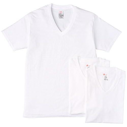 (ヘインズ)Hanes OE【3枚組】VネックT HM1EG753 010 ホワイト LL