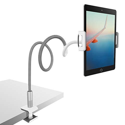 タブレット寝ながらアームスタンド, フレキシブルアームホルダー, Lomicall タブレット用ベッドサイドアームスタンド : タブレット 仰向け, 寝たままタブレット固定あーむ, クランプ式, 角度調整, tablet flexible arm holder, ベットスタンド, ごろ寝, アイパッド ミニ エア プロ, iPad, iPad mini, iPad Air, iPadPro iPad Pro 9.7 10.5, kindle, 任天堂スイッチ, nintendo switch, mediapad, fire hd10対応