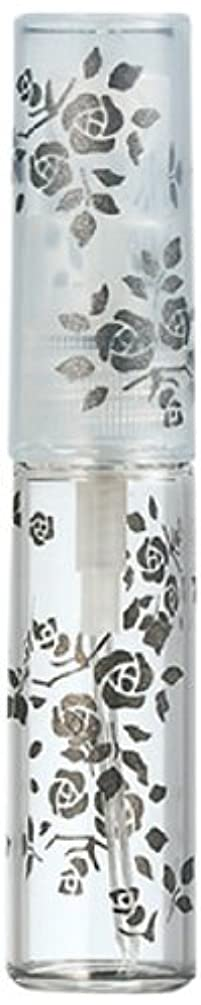 ギャンブルバブル有益な50122 【ヤマダアトマイザー】 グラスアトマイザー プラスチックポンプ 柄 バラ ブラック