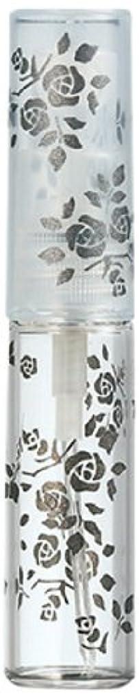 紳士職業のため50122 【ヤマダアトマイザー】 グラスアトマイザー プラスチックポンプ 柄 バラ ブラック
