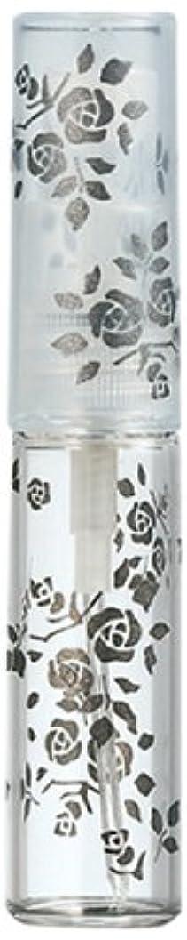 すごい愚か巨大な50122 【ヤマダアトマイザー】 グラスアトマイザー プラスチックポンプ 柄 バラ ブラック