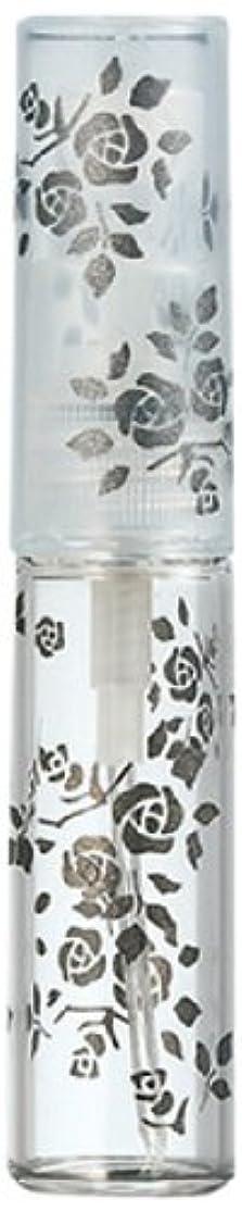 補助冷蔵する幻影50122 【ヤマダアトマイザー】 グラスアトマイザー プラスチックポンプ 柄 バラ ブラック