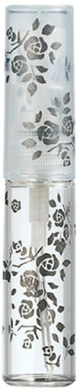 短くする発音強化50122 【ヤマダアトマイザー】 グラスアトマイザー プラスチックポンプ 柄 バラ ブラック