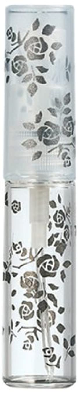 着飾るトーク万一に備えて50122 【ヤマダアトマイザー】 グラスアトマイザー プラスチックポンプ 柄 バラ ブラック