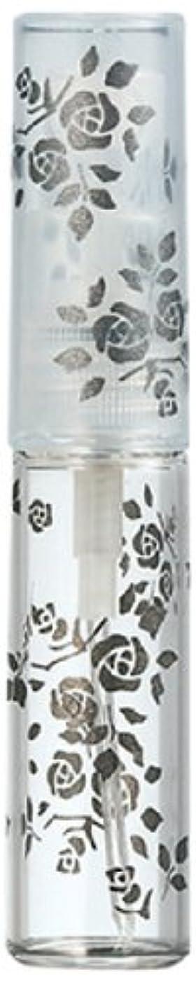 発明する突然約50122 【ヤマダアトマイザー】 グラスアトマイザー プラスチックポンプ 柄 バラ ブラック