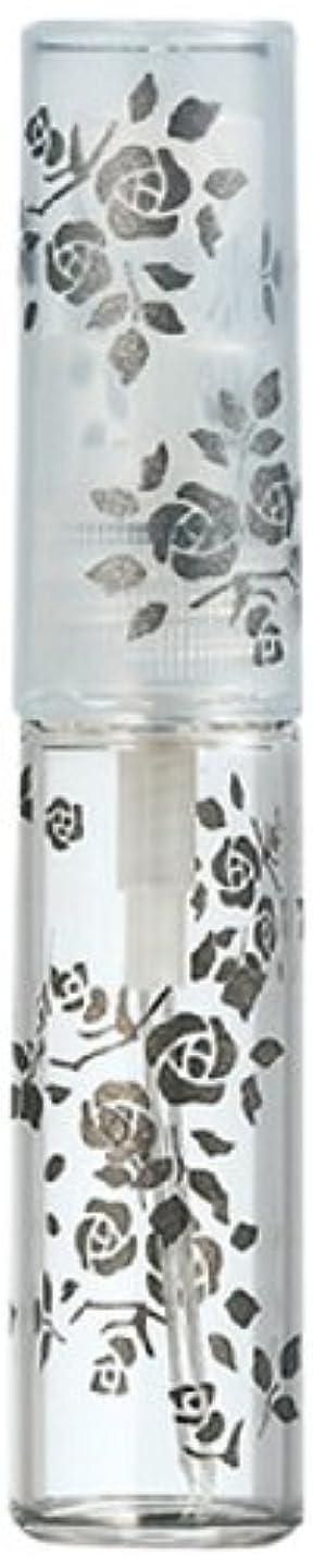 亡命エキサイティングペルソナ50122 【ヤマダアトマイザー】 グラスアトマイザー プラスチックポンプ 柄 バラ ブラック