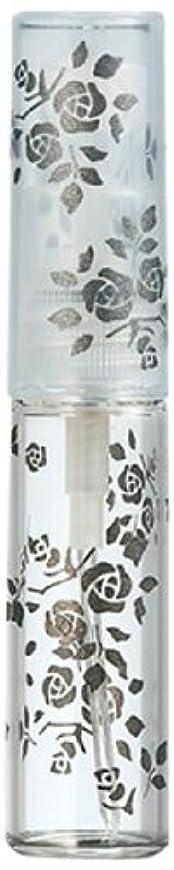 扱いやすいアラバマタイル50122 【ヤマダアトマイザー】 グラスアトマイザー プラスチックポンプ 柄 バラ ブラック