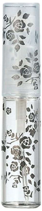 ファンブルネックレスピッチャー50122 【ヤマダアトマイザー】 グラスアトマイザー プラスチックポンプ 柄 バラ ブラック