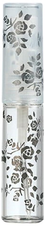 飛び込むひねくれたビジョン50122 【ヤマダアトマイザー】 グラスアトマイザー プラスチックポンプ 柄 バラ ブラック