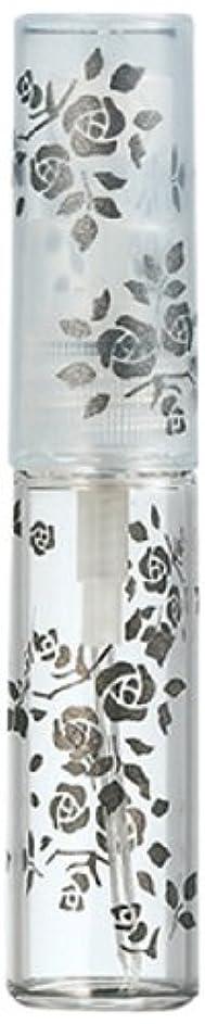 四分円一回繁雑50122 【ヤマダアトマイザー】 グラスアトマイザー プラスチックポンプ 柄 バラ ブラック