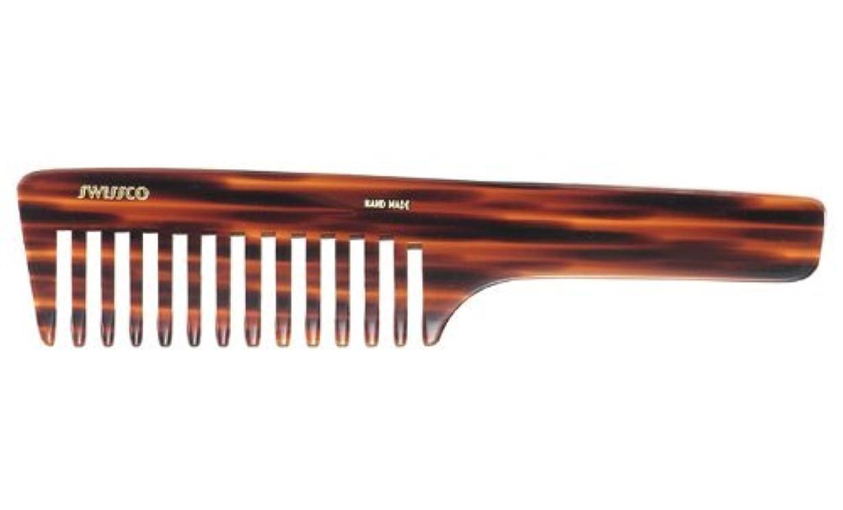 葉を集めるサイレン肥満Swissco Tortoise Handle Comb Wide Tooth [並行輸入品]