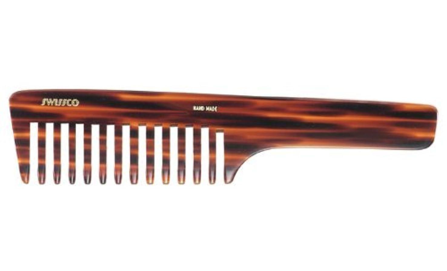 容赦ない家主運動するSwissco Tortoise Handle Comb Wide Tooth [並行輸入品]