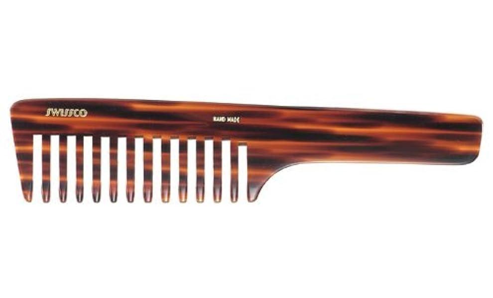 スキーム見捨てられたほとんどないSwissco Tortoise Handle Comb Wide Tooth [並行輸入品]