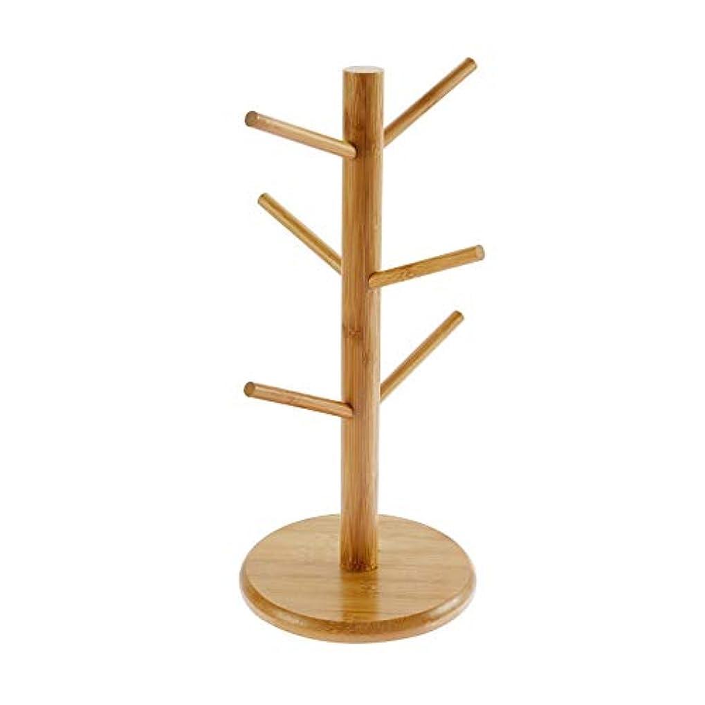 支出想像力略すラック、創造的な家庭用ストレージは、木製のテーブルのカップホルダーカップラックドレインラック